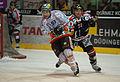 Gianni Ehrensperger (L), Simon Gamache (R) - Fribourg-Gotteron vs. HC Bienne, 25.11.2011.jpg