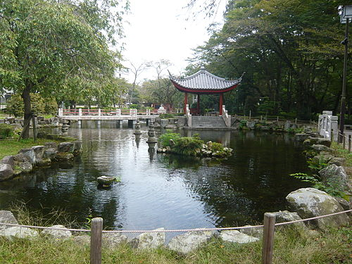 A miniature replica of the West Lake inside the Gifu Park in Gifu, Japan Gifu Park China 2.JPG