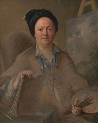 George Lambert (English painter) - Giles Hussey Portrait of a landscape painter, possibly George Lambert, between 1740 and 1750, Yale Center for British Art.