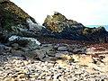 Glen Maye, beach south of the stream - geograph.org.uk - 773546.jpg
