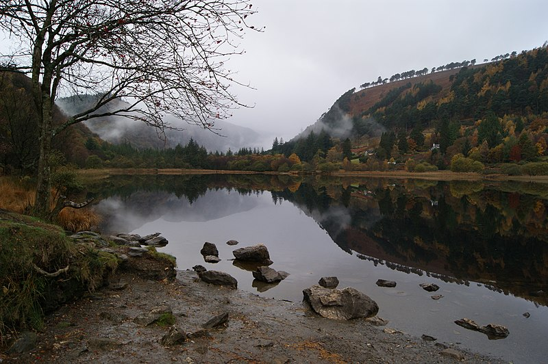 File:Glendalough upper lake autumn.jpg