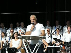 Glenn Hysén - Glenn Hysén giving a speech at Stockholm Pride 2007.
