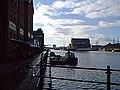 Gloucester Docks waterside by Kimberley Warehouse - geograph.org.uk - 464606.jpg