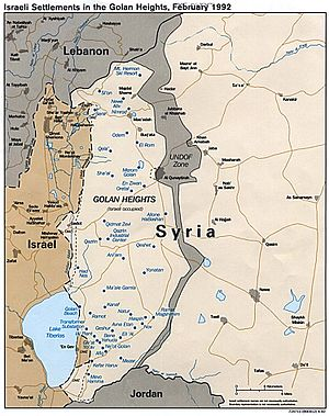 Israeli-occupied territories - Map of the Golan Heights since 1974