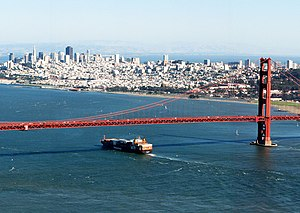 San Francisco - San Francisco and the Golden Gate Bridge from Marin Headlands