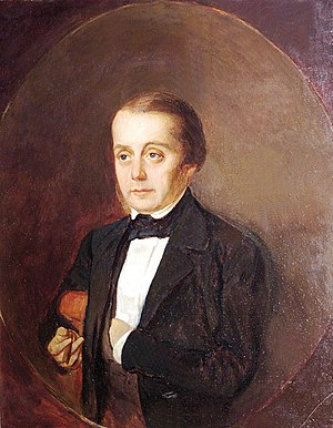 Ivan Goncharov - Portrait of Goncharov by Kirill Gorbunov, 1847