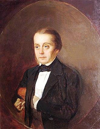 Ivan Goncharov - Portrait of Goncharov by Kirill Gorbunov, 1847