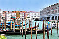 Gondolas at Hotel Ca Sagredo - Grand Canal - Rialto - Venice Italy Venezia - Creative Commons by gnuckx (4763287803).jpg