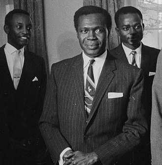 Mengo Crisis - From left to right: Grace Ibingira, leader of the UPC's right wing; Milton Obote, Prime Minister of Uganda; and John Kakonge, leader of the UPC's left wing