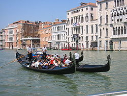 Gondolas on Grand Canal.