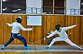Greek Epee Fencers. Evening training at Athenaikos Fencing Club with friends from other clubs.jpg