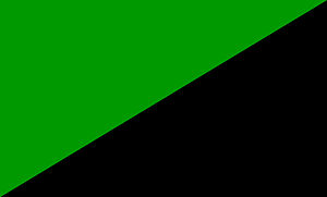 Green anarchism - Flag of Green Anarchism