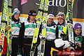 Gregor Schlierenzauer, Andreas Kofler, Thomas Morgenstern, Martin Koch Oslo 2011 (team, normal hill) 2.jpg