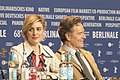 Greta Gerwig and Bryan Cranston - Isle of Dogs - Press Conference.jpg