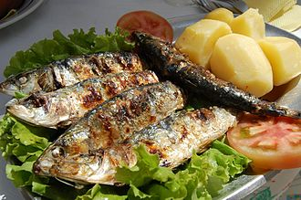 Portuguese cuisine - Grilled sardines in Portugal