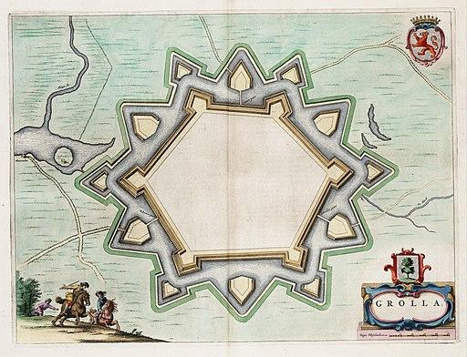 Grolla - Map of Groenlo, after 1628 (J.Blaeu, 1649)