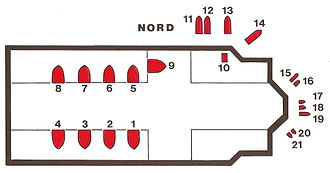 Regensburg Cathedral - Groundplan of the stained glass windows by Josef Oberberger