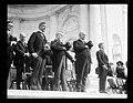 Group; J.J. Jusserand, Edwin Denby and memorial plaque, Arlington National Cemetery, Arlington, Virginia LCCN2016891301.jpg