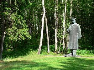 Grūtas Park - A statue of Joseph Stalin in Grūtas Park; it originally stood in Vilnius.