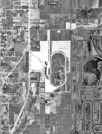 Gulfstream Park - Historic Aerial Photograph of Gulfstream Park in 1940