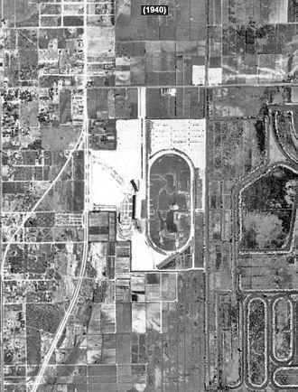 Gulfstream Park - Historic Aerial Photograph of Gulfstream Park in 1940