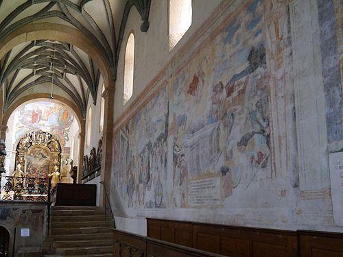 Gurk Dom Maria Himmelfahrt Innen Gotische Fresken 1.JPG