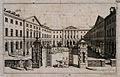 Guy's Hospital, Southwark; the entrance courtyard, with a pa Wellcome V0013705.jpg