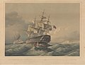 H.M.S. Queen, 110 guns, being towed out of Malta harbour by H.M. steam vessel Virago Jany 16th 1844 RMG PY0891.jpg