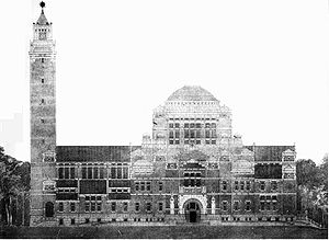 Architectural design competition - Image: H.P. Berlage design Peace Palace elevation