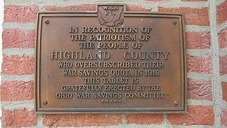 Highland County Courthouse (Ohio) - Image: HCC3