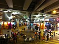 HK Causeway Bay night Canel Road East bridge park visitors Aug-2013.JPG