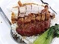 HK PFL campus 香港大學 HKU 黃克競大樓 Haking Wong Building catering outlet Union Restaurant (EAT) by Sodexo dinner rice 叉燒 BbQ pork meat 燒肉 pork meat 碟頭飯 May 2019 SSG 04.jpg