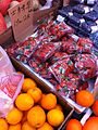 HK Sai Ying Pun Queen's Road West Kai Bo Food Supermarket 士多啤梨 Strawberry n Orange Mar-2014.JPG