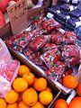 HK Sai Ying Pun Queen's Road West Kai Bo Food Supermarket 士多啤梨 Strawberry n Orange Mar-2014.JPG