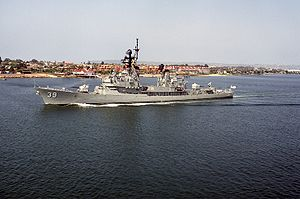 HMAS Hobart in California, 1992