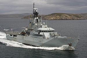 River-class patrol vessel - Image: HMS Clyde MOD 45158399