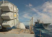 HMS Cumberland - RAS with RFA Wave Knight MOD 45145682