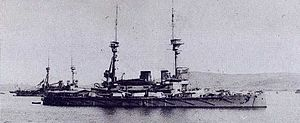 HMS Lord Nelson (1906) - Lord Nelson anchored at the Dardanelles in 1915. Her sister ship ''Agamemnon'' is anchored behind her.