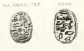 Neferhotep I - Image: Haankhef&Kema Scarabs Petrie