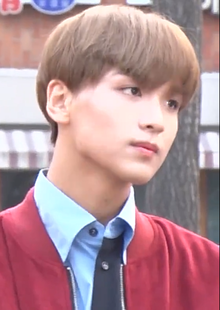Haechan going to a Music Bank recording in March 2018 01.png