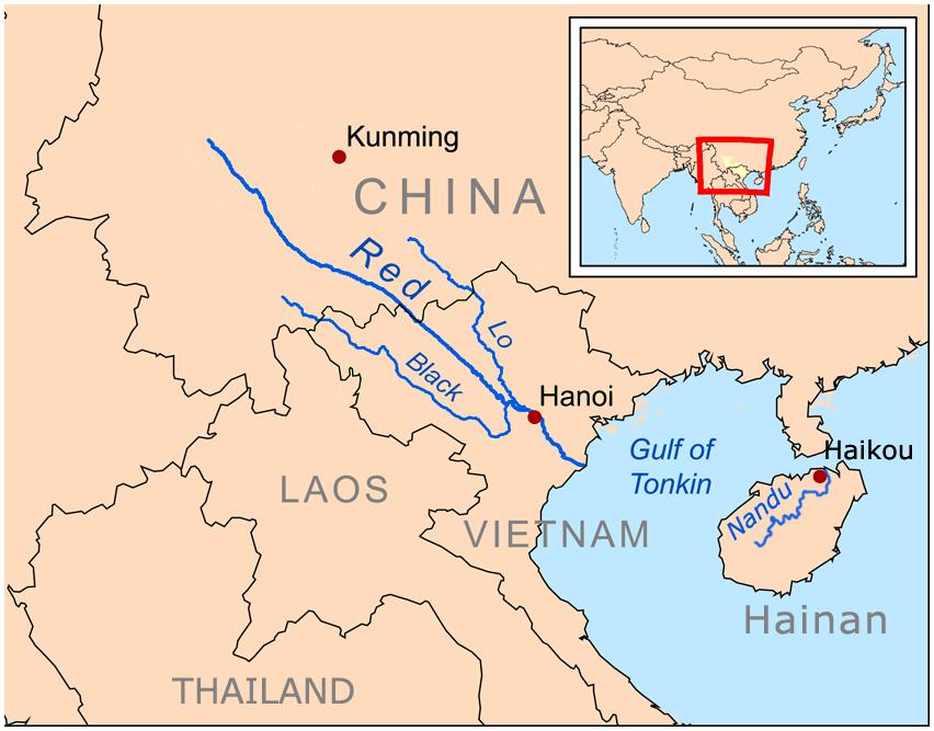 Hainan - Haikou - Nandu rivermap