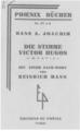 Hans Arno Joachim Victor Hugo 1935 Cover.png
