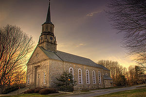 Connecticut College - Harkness Chapel at sunset