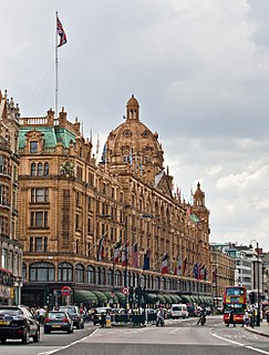 Harrods British department store