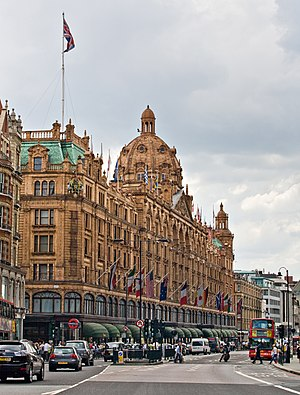 Harrods - The Harrods building frontage