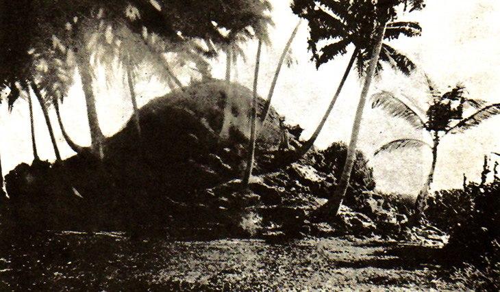 Harry Charles Purvis Bell, Ruins of a Dagaba on Fua Mulaku island, 1922
