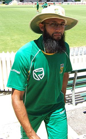 Hashim Amla at a training session at the Adela...