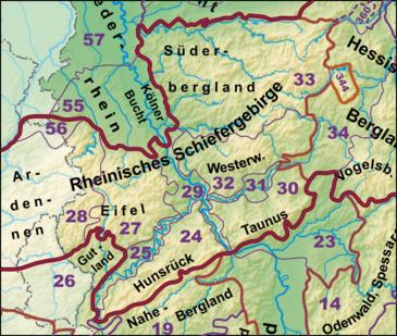Rheinisches Schiefergebirge (Deutschland)