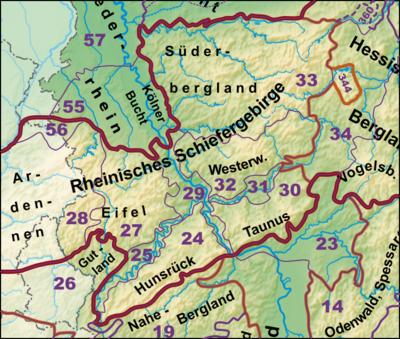 Sauerland Karte Berge.Liste Von Bergen Des Rheinischen Schiefergebirges Wikipedia