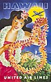 Hawaii, United Air Lines, Hawaiian Girl with Leis.jpg